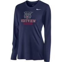 Westview LAX 15: Nike Women's Legend Long-Sleeve Training Top - Navy Blue
