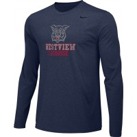 Westview LAX 13: Adult-Size - Nike Team Legend Long-Sleeve Crew T-Shirt - Navy Blue