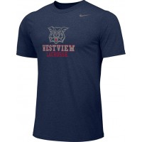 Westview LAX 10: Adult-Size - Nike Team Legend Short-Sleeve Crew T-Shirt - Navy Blue