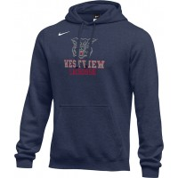 Westview LAX 18: Adult-Size - Nike Team Club Fleece Training Hoodie (Unisex) - Navy Blue