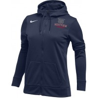 Westview LAX 21: Nike Women's Therma All-Time Hoodie Full Zip - Navy Blue